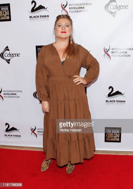 Jaicy Elliot attends the 13th annual International Myeloma Foundation's Comedy Celebration at The Beverly Hilton Hotel on October 17 2019 in Beverly...