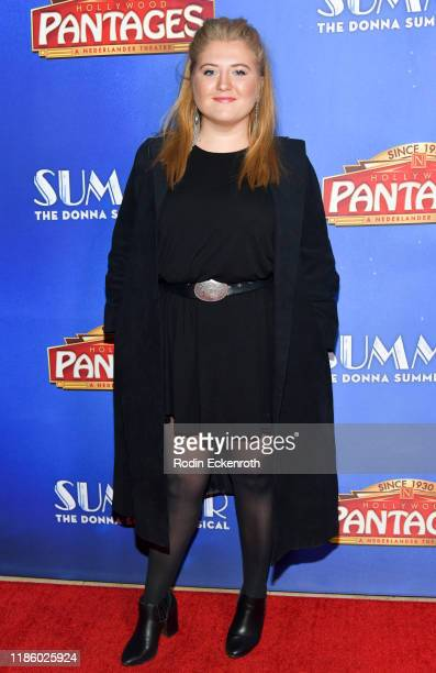 Jaicy Elliot attends the Premiere of Summer The Donna Summer Musical At Hollywood Pantages Theatre at the Pantages Theatre on November 06 2019 in...