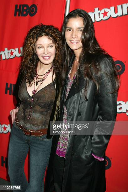Jaid Barrymore and Patricia Velasquez during HBO's Entourage Season 2 New York City Premiere at The Tent at Lincoln Center Damrosch Park in New York...