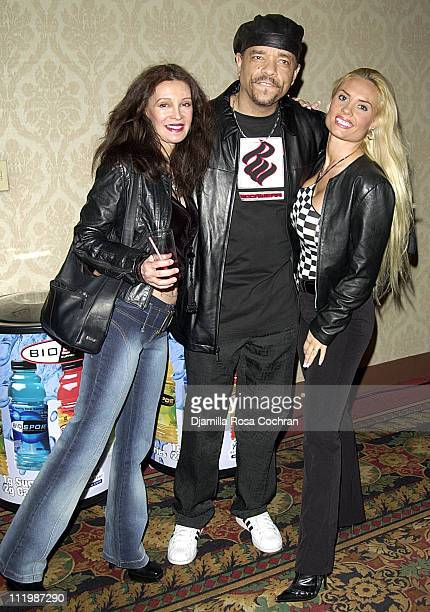 Jaid Barrymore IceT and Coco during BIO SPORT and BELLA CAFFE Launch Party at The New York Athletic Club in New York New York United States