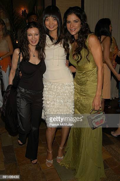 Jaid Barrymore Irina Pantaeva and Patricia Velasquez attend Wayuu Taya Foundation Dinner at Tribeca Grand Hotel NYC USA on June 20 2005