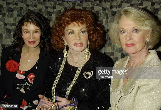 Jaid Barrymore Jackie Stallone Tippi Hedren during Celebrity Moms and greetNwin Kick Off Mothers Day at One51 at One51 in New York City New York...