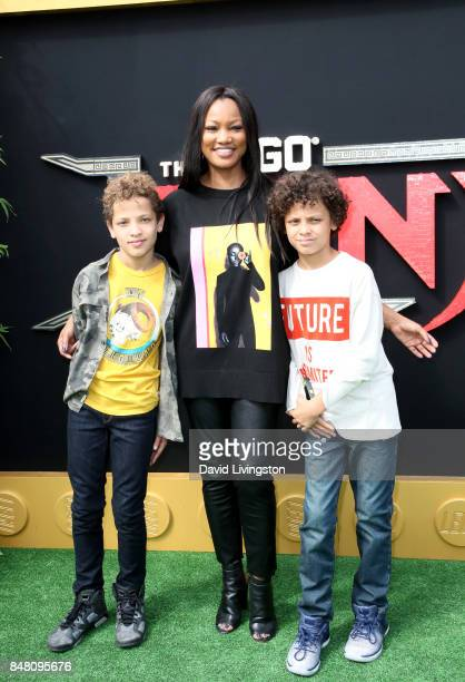 Jaid Thomas Nilon Garcelle Beauvais and Jax Joseph Nilon at the premiere of Warner Bros Pictures' The LEGO Ninjago Movie at Regency Village Theatre...