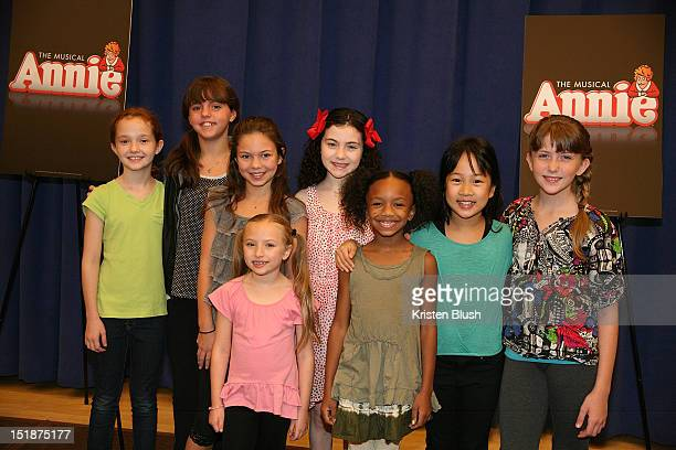 Jaidyn Young Georgie James Madi Rae Dipietro Lilla Crawford Tyrah Skye Odoms Junah Jang Emily Rosenfeld and Taylor Richardson attend the Annie...