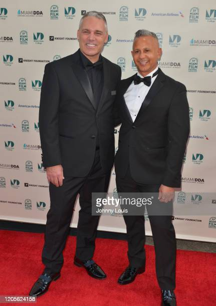 Jaie Laplante and Nelson Polanco is seen during 37th Annual Miami Film Festival presented by Miami Dade College opening night at Olympia Theater At...