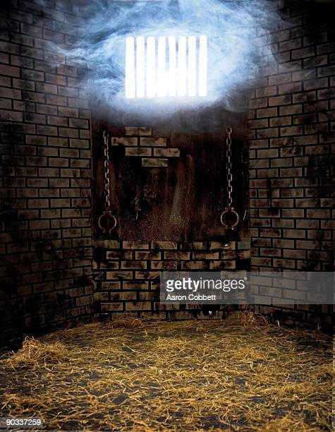 jail cell - dungeon stock photos and pictures