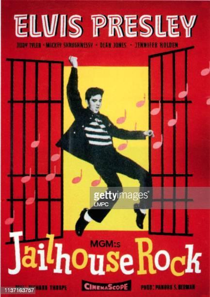 Jailhouse Rock poster Elvis Presley on Swedish poster art 1957