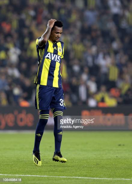 Jailson Marques Siqueira of Fenerbahce reacts during a Turkish Super Lig soccer match between Fenerbahce and MKE Ankaragucu at Ulker Stadium in...