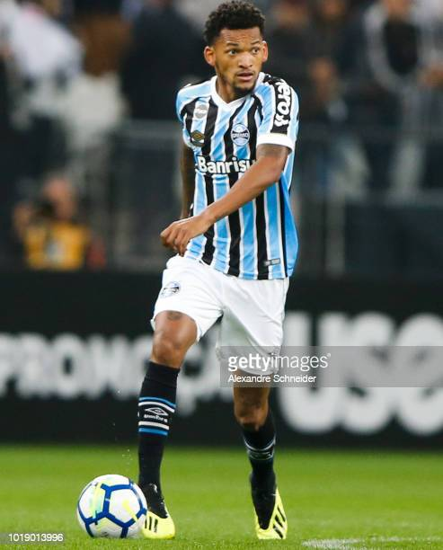 Jailson of Gremio in action during the match against Corinthians for the Brasileirao Series A 2018 at Arena Corinthians Stadium on August 18 2018 in...