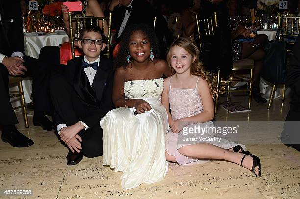 Jaiman Jozlyn and Arabelle of Children's National Health System attend Angel Ball 2014 hosted by Gabrielle's Angel Foundation at Cipriani Wall Street...