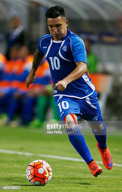 Jaime Alas controls the ball during a Group B match between El Salvador and Canada as part of stage group of Gold Cup 2015 at StubHub Center on July...