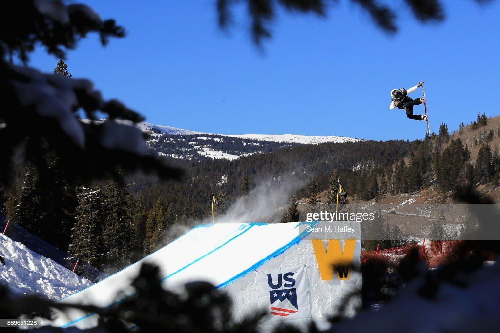 Jaime Anderson competes in the final of the FIS Snowboard World Cup 2018 Ladies' Big Air during the Toyota U.S. Grand Prix on December 10, 2017 in Copper Mountain, Colorado.