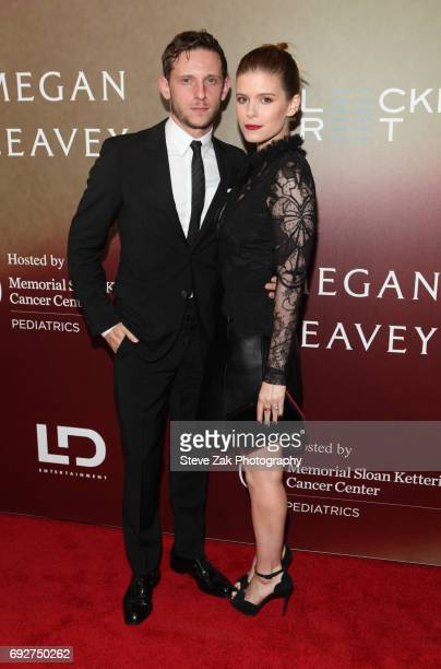 Jaime Bell and Kate Mara attend the Megan Leavey World Premiere at Yankee Stadium on June 5 2017 in New York City