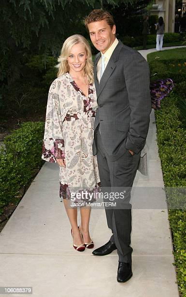 Jaime Bergman and David Boreanaz during Chrysalis' 5th Annual Butterfly Ball at The Italian Villa Carla Fred Sands in Bel Air California United States