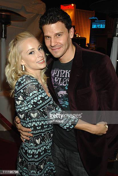 Jaime Bergman and David Boreanaz during HBO AEG Live's The Comedy Festival Comic Relief 2006 After Party at Caesars Palace in Las Vegas Nevada United...