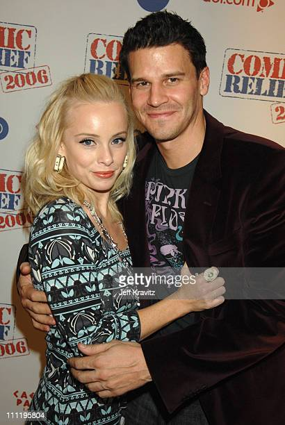 Jaime Bergman and David Boreanaz during HBO AEG Live's The Comedy Festival Comic Relief 2006 Red Carpet at Caesars Palace in Las Vegas Nevada United...
