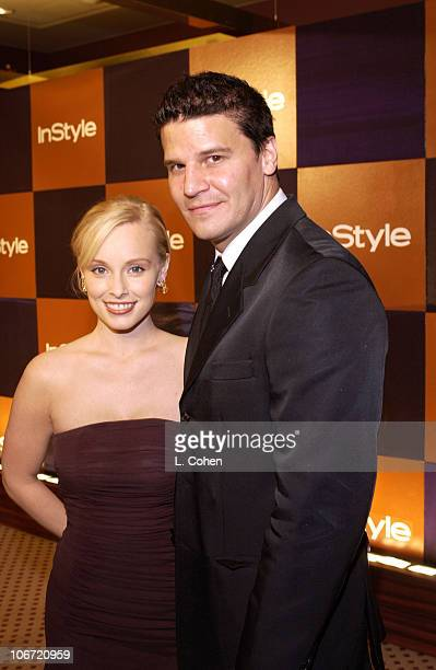 Jaime Bergman and David Boreanaz during InStyle Magazine Hosts Fourth Annual PostGolden Globes Party to Honor Hollywood's Elite Arrivals at The...