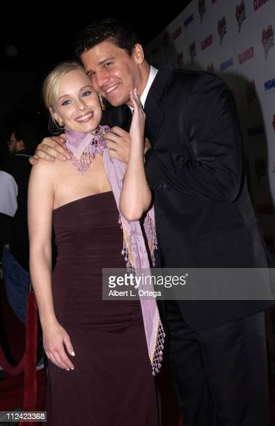 Jaime Bergman and David Boreanaz during The 60th Annual Golden Globe Awards Miramax AfterParty Arrivals at Trader Vic's in Beverly Hills California...