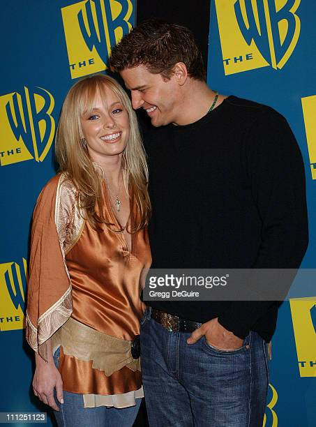 Jaime Bergman and David Boreanaz during The WB Network's 2004 All Star Party at Hollywood Highland in Hollywood California United States