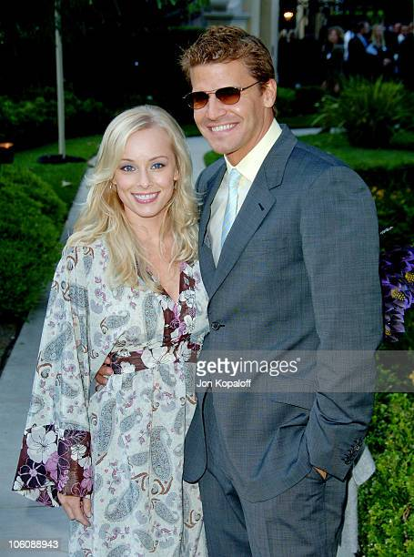 Jaime Bergman and husband David Boreanaz during Chrysalis' 5th Annual Butterfly Ball at The Italian Villa Carla Fred Sands in Bel Air California...