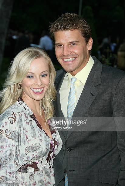Jaime Bergman and husband David Boreanaz during Chrysalis's 5th Annual Butterfly Ball Arrivals at Italian villa of Carla and Fred Sands in Bel Air...