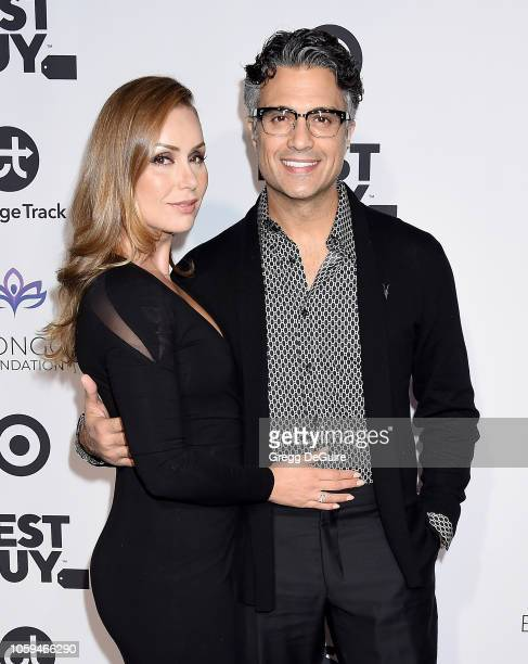 Jaime Camil and Heidi Balvanera arrive at the Eva Longoria Foundation Dinner Gala at Four Seasons Hotel Los Angeles at Beverly Hills on November 8...