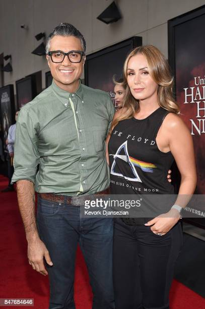 Jaime Camil and Heidi Balvanera attend Halloween Horror Nights Opening Night Red Carpet at Universal Studios Hollywood on September 15 2017 in...