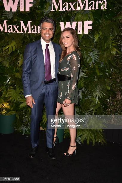 Jaime Camil and Heidi Balvanera attend Max Mara WIF Face Of The Future at Chateau Marmont on June 12 2018 in Los Angeles California