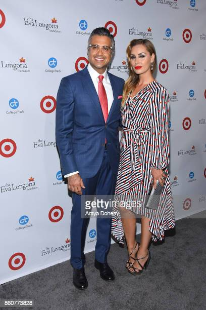 Jaime Camil and Heidi Balvanera attend the Eva Longoria Foundation Annual Dinner at Four Seasons Hotel Los Angeles at Beverly Hills on October 12...