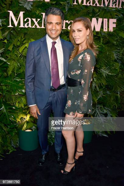 Jaime Camil and Heidi Balvanera attend the Max Mara Celebration for Alexandra Shipp 2018 Women In Film Max Mara Face Of The Future Award Recipient at...