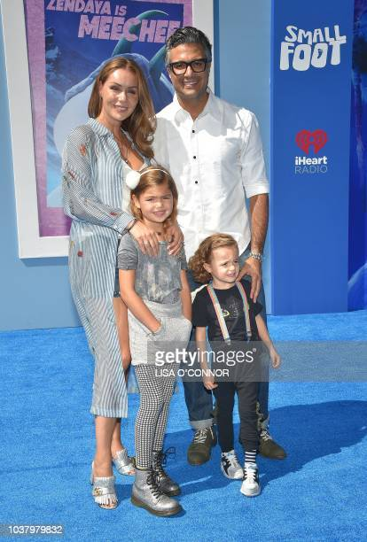 Jaime Camil and Heidi Balvanera attend the 'Small Foot' World Premiere in Los Angeles California on September 22 2018