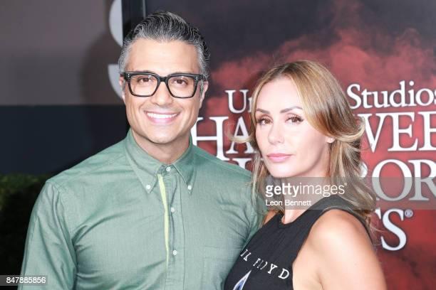Jaime Camil and Heidi Balvanera attends Universal Studios Halloween Horror Nights Opening Night Arrivals at Universal Studios Hollywood on September...