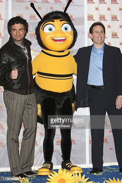 Jaime Camil and Jerry Seinfeld at the Mexico City Premiere of Bee Movie held at Cinemex Antara Polanco on November 13 2007 in Mexico City Mexico