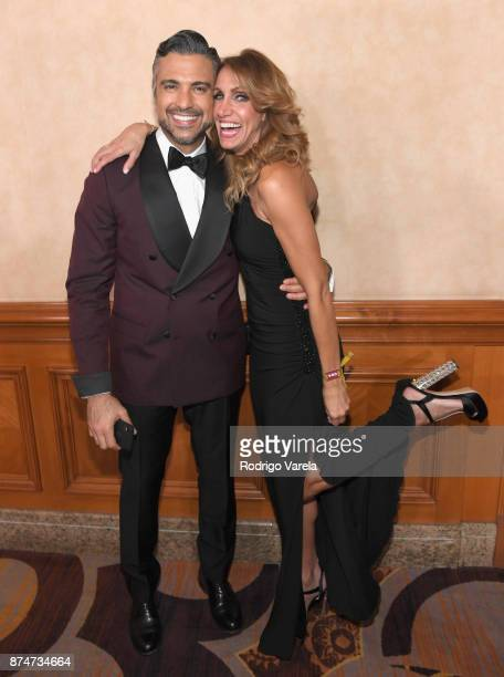 Jaime Camil and Lili Estefan attend the 2017 Person of the Year Gala honoring Alejandro Sanz at the Mandalay Bay Convention Center on November 15...