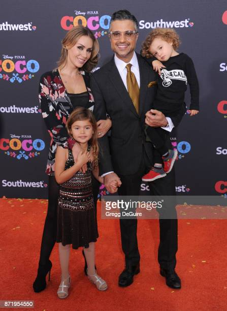 Jaime Camil Heidi Balvanera Elena Camil and Jaime Camil III arrive at the premiere of Disney Pixar's Coco at El Capitan Theatre on November 8 2017 in...