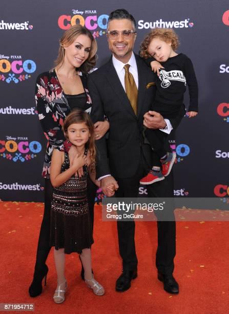 Jaime Camil Heidi Balvanera Elena Camil and Jaime Camil III arrive at the premiere of Disney Pixar's Coco at El Capitan Theatre on November 8 2017 in...
