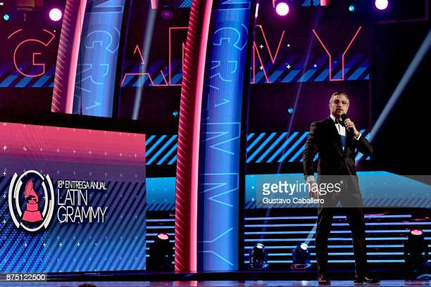Jaime Camil speaks onstage during The 18th Annual Latin Grammy Awards at MGM Grand Garden Arena on November 16 2017 in Las Vegas Nevada