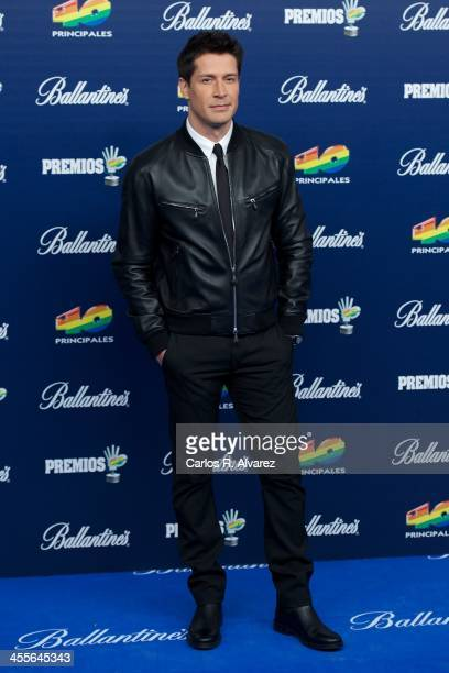 Jaime Cantizano attends the '40 Principales Awards' 2013 photocall at Palacio de los Deportes on December 12 2013 in Madrid Spain