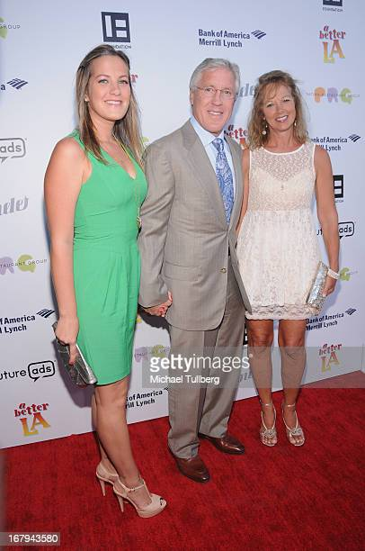 Jaime Carroll NFL Football coach Pete Carroll and wife Glena Carroll attend A Better LA's An Evening With A View Annual Gala at ATT Center on May 2...