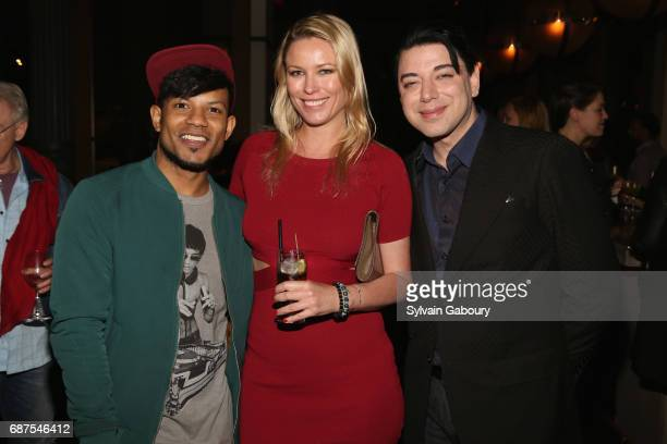 Jaime Cepero Kiera Chaplin and Malan Breton attend The Cinema Society with Remy Martin Frederique Constant host the after party for Pirates of the...
