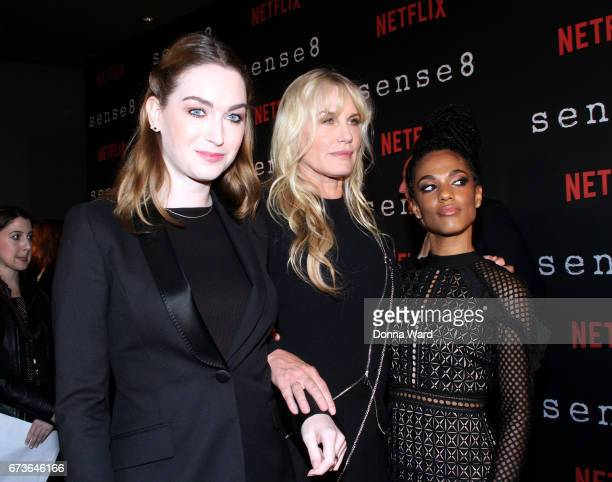 Jaime Clayton Daryl Hannah and Freema Agyeman attend the Sense8 New York Premiere at AMC Lincoln Square Theater on April 26 2017 in New York City