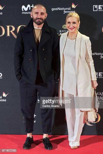 Jaime de los Santos and Cristina Cifuentes attend 'Oro' premiere at the Callao cinema on November 8 2017 in Madrid Spain