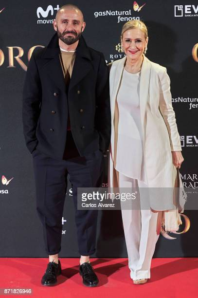 Jaime de los Santos and Cristina Cifuentes attend 'Oro' premiere at the Callao cinema on November 8 2017 in Madrid Spain