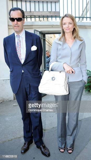 Jaime de Marichalar and Delphine Arnault attend fashion show Givenchy during FallWinter 2009 Haute Couture collection show in Paris on July 1 2008