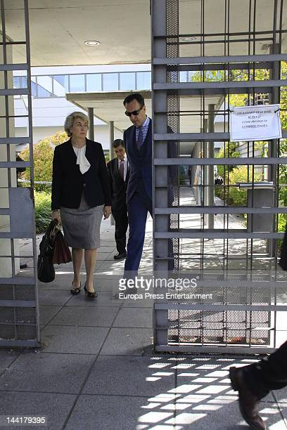 Jaime de Marichalar and his lawyer Cristina Pena attends court to defend his reputation after a magazine published his divorce of Prince Elena of...