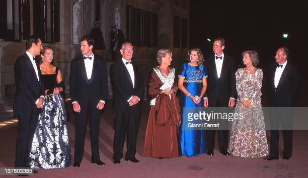 Jaime de Marichalar and his wife the Infanta Elena Crown Prince Felipe Juan Maria Urdangarin and his wife Claire Inaqui Urdargarin and his bride the...