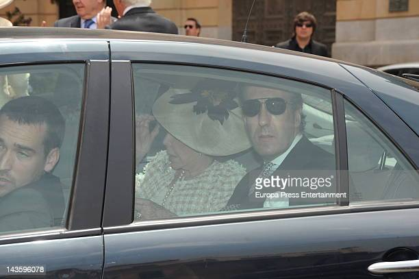 Jaime de Marichalar attends Sabina Fluxa and Alfonso Fierro March's wedding on April 28 2012 in Palma de Mallorca Spain