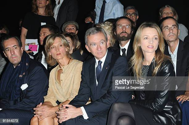 Jaime de Marichalar, Helene Arnault, Bernard Arnault and Delphine Arnault attend the Louis Vuitton Pret a Porter show as part of the Paris Womenswear...