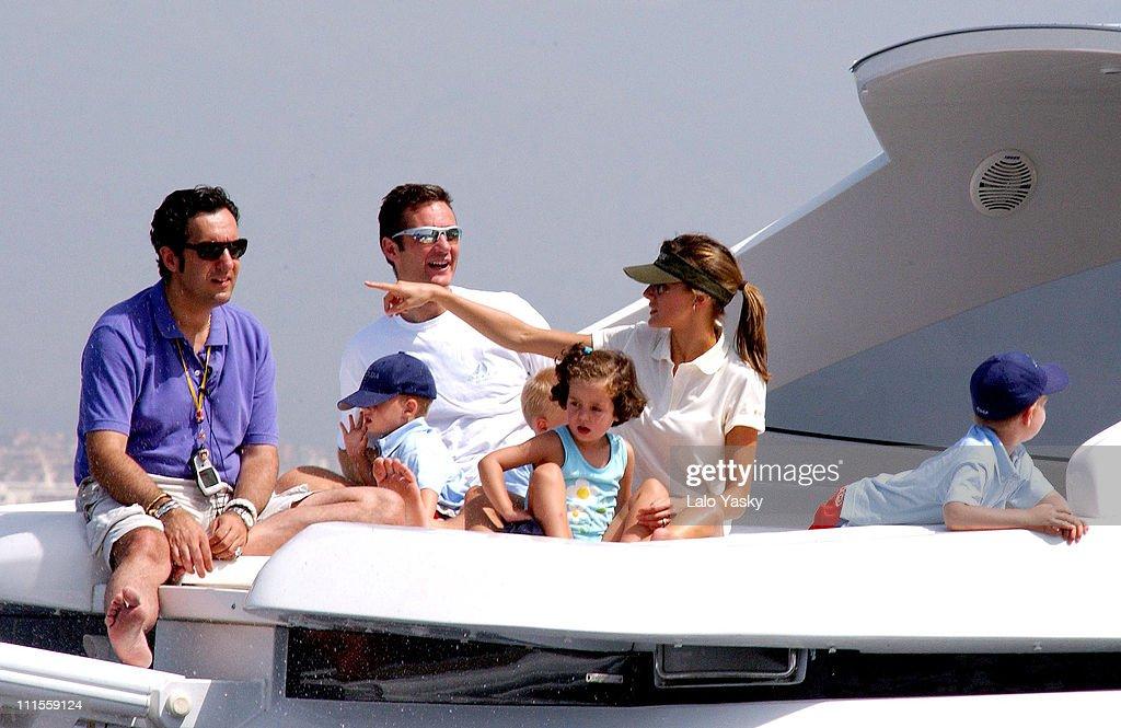 King Juan Carlos, King Herald and Prince Felipe, sail at the Regata Breitling