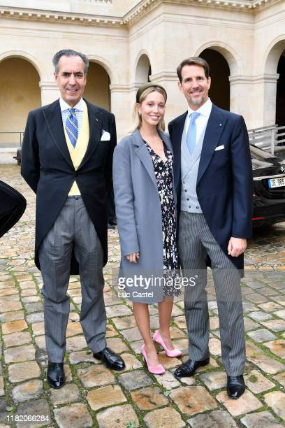 Jaime de Marichalar Prince Paul de Grece and his daughter Princess Olympia de Grece attend the Wedding of Prince JeanChristophe Napoleon and Olympia...
